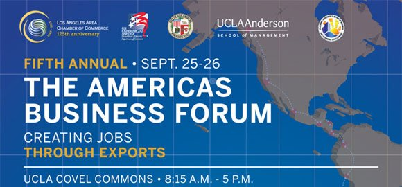 The fifth annual The Americas Business Forum, which focuses on helping small and midsized California firms create jobs through exports, ...