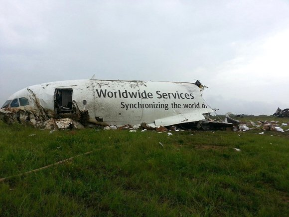 BIRMINGHAM, Ala. — The pilot and co-pilot of a UPS cargo plane died Wednesday when their jet crashed, broke into ...