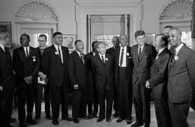1963 March on Washington with President John F. Kennedy.