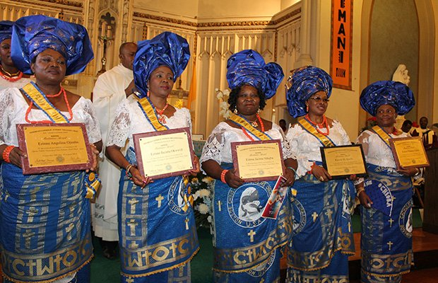 "Five members of the Nigerian Catholic Women Organization of St. Katharine Drexel Parish in Dorchester were conferred the title of Ezinne, which means ""Good Mother"" in Igbo. This title is bestowed on only mothers who have rendered noteworthy service to the Church and are of upstanding character. This is the first time an Ezinne conferment has taken place in the United States."