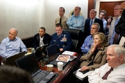 A famous photo shows President Barack Obama hunkered down in the Situation Room in May 2011 with his national security ...