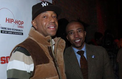 (Left) Kevin Liles (left) with Def Jam Records founder, Russell Simmons.