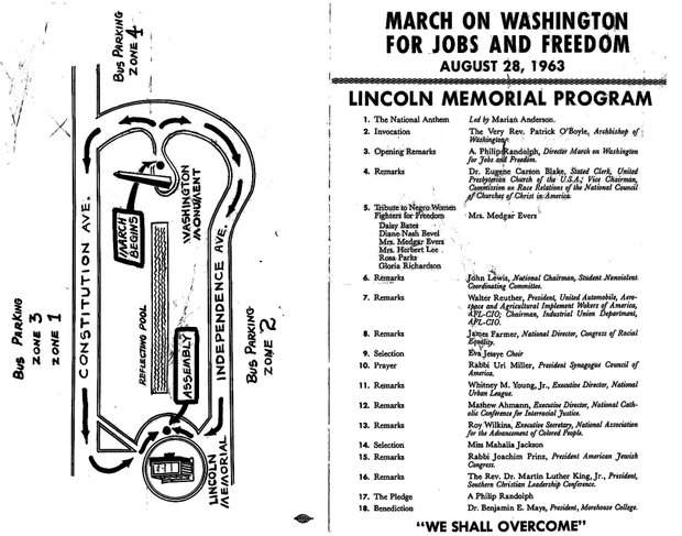 1963 March on Washington original flyer