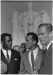 Sidney Poitier at the 1963 March on Washington