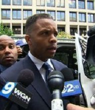 "Former U.S. Rep. Jesse Jackson Jr., 48, was sentenced to 30 months in prison on Wednesday, August 14, 2013. ""I still, believe in the power of forgiveness. I believe in the power of redemption. Today I manned up and tried to accept responsibility for the error of my ways,"" he said before climbing into a waiting vehicle."