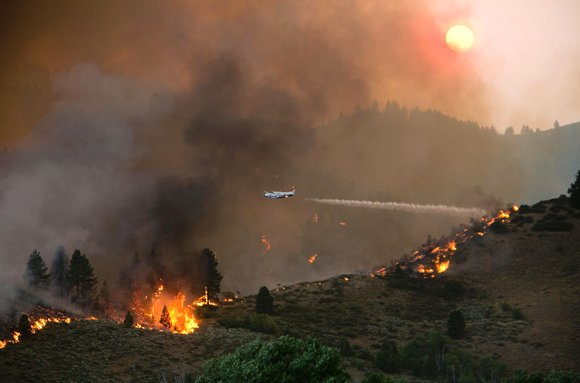 Wildfires spreading in and around Ketchum, Idaho.
