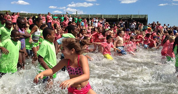 Youth and teens from 15 youth groups took part in the third Annual Kids Beach Bash and Splash on Aug. 15 at the Curley Recreation Center in South Boston.