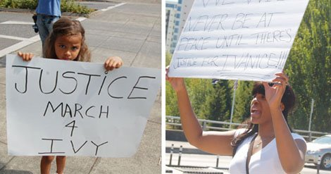 Things got off to a late start at the 'Justice March for Ivy' rally in downtown Portland Saturday, but the ...