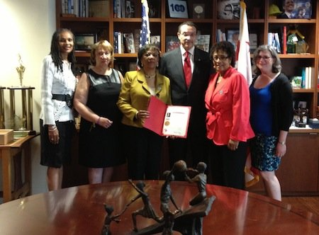 D.C. Mayor Vincent Gray joined more than two dozen other elected officials throughout the nation in declaring Thursday, Aug. 22 ...