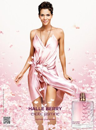 Halle Berry introduces new fragrance Exotic Jasmine.
