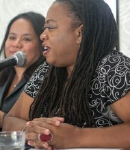 Dr. Toni Lewis, Service Employees International Union is a panelist at the Black Women's Roundtable discussion and luncheon held on Thurs., August 22, at the Hyatt Regency Capitol Hill in Northwest.