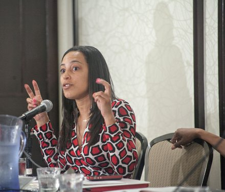 IMPACT Co-Founder & Director Angela Rye is a Telling HerStory panelist at the Black Women's Roundtable discussion and luncheon held at the Hyatt Regency Capitol Hill in Northwest on Thurs., August 22.