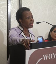 The White House representative bringing greetings to guests at the Black Women's Roundtable on Thurs., August 22 at the Hyatt Regency Capitol Hill in Northwest.