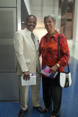 "Joe Madison and his wife at the Newseum for the ""Covering Civil Rights: On the Front Lines,"" event Thurs., August 22."