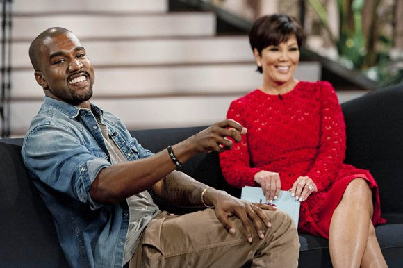 "Kanye West appeared on Kris Jenner's daytime talk show ""Kris"" on Friday, August 23, 2013, to discuss his relationship with Jenner's daughter, Kim Kardashian, and their new addition, North."