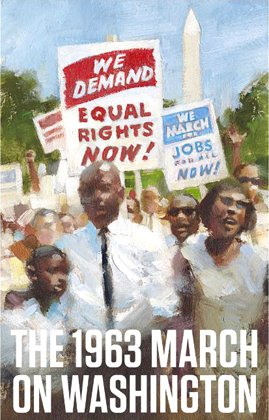 1963 March on Washington forever stamp issued by the United States Postal Service.