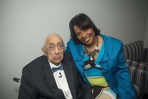 Simeon Booker and Rev. Bernice King