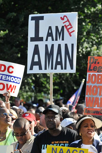 Thousands turn out for the March on Washington 50th Anniversary Sat., August 24.