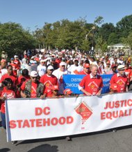 Hundreds turned out for the D.C. Statehood Rally and March on Saturday, Aug. 24 at the District of Columbia War Memorial.