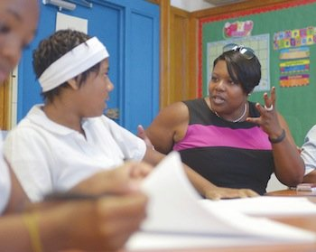 DCPS Chancellor Kaya Henderson visited several schools on Monday, Aug 26 — including Kramer Middle and Kimball Elementary in Southeast — where she interacted in classrooms with students and their teachers.