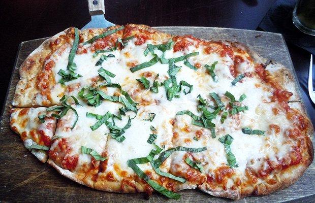 GEM's San Marzano tomato, mozzarella and parmigiano pizza. Plenty to share!