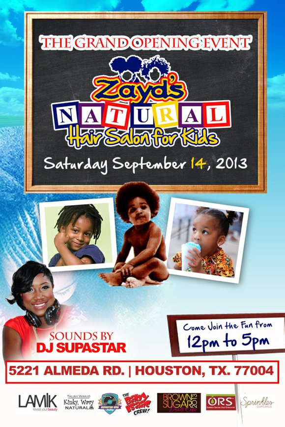 An answer to Houston parents' prayers of being frustrated with styling their 'natural kids'' hair, Zayd's Naturally Natural Hair Studio ...