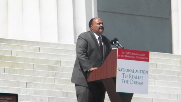 "Martin Luther King III measured the progress of the nation after his fathers ""I Have a Dream"" speech given on August 28, 1963."
