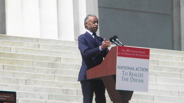 President of the National Action Network Rev. Al Sharpton gave the key note address at the commemorative March on Washington 2013.