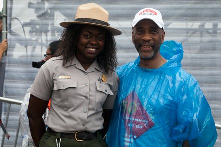 Lafayette Barnes, Sr. with National Park Service officer