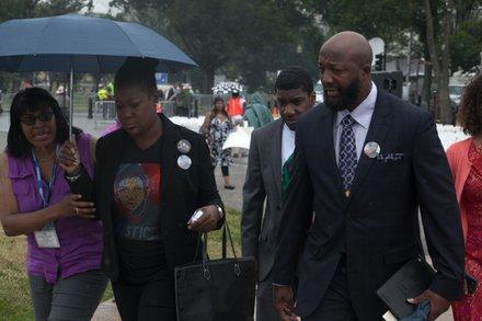 Murder victim Trayvon Martin's family