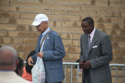 Julian Bond and Isiah Thomas