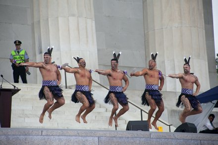 Maori Haka performance from Destiny Church, New Zealand