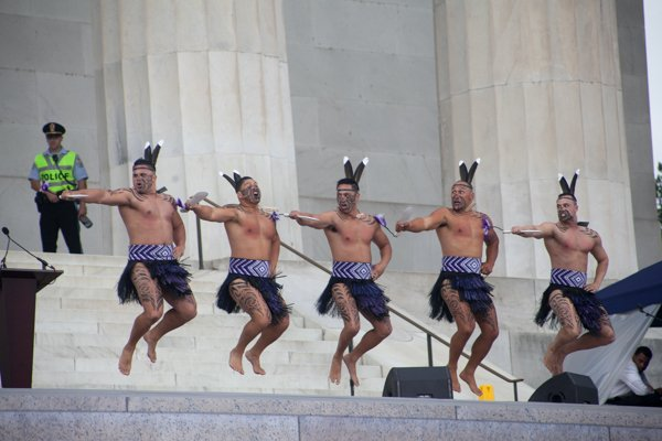 Maori Haka performance from Destiny Church, New Zealand