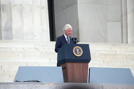 Former President Bill Clinton speaks