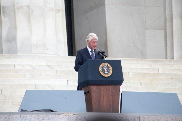 Former President Bill Clinton speaks