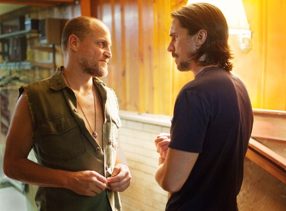 "Woody Harrelson and Christian Bale star in Relativity Media's ""Out of the Furnace."""