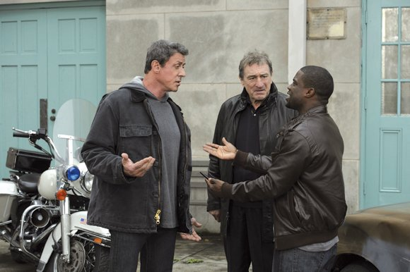 "Sylvester Stallone, Robert De Niro and Kevin Hart star in ""Grudge Match."""