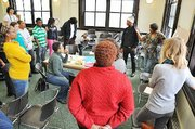 A Design to Engage Workshop takes place at the Resident Association of Greater Englewood (R.A.G.E.)