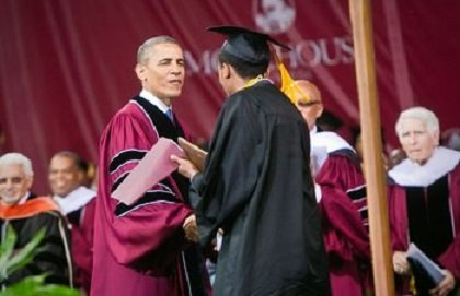 President Barack Obama gave the commencement speech at Morehouse College in Atlanta in 2013.