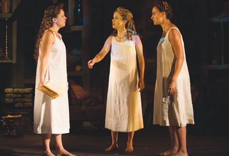 The play centers on three young women who find themselves taking refuge in the convent: Jesusa, a Mestiza (half-Spanish and ...