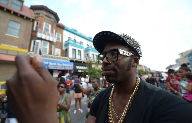 """""""Prodigy Artistry"""" poses for a portrait at Adams Morgan Day in D.C. on Sunday, Sept. 8."""