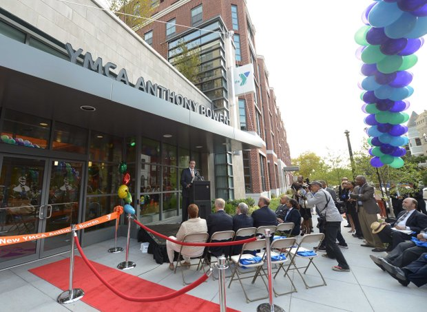 D.C. Mayor Vincent Gray was one of several dignitaries that spoke during a ribbon-cutting ceremony at the newly refurbished Anthony Bowen YMCA in Northwest on Monday, Sept. 9.