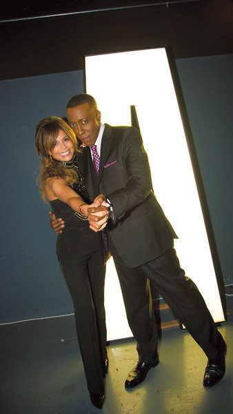 "Paula Abdul and Arsenio Hall on the premiere of ""Arsenio."""