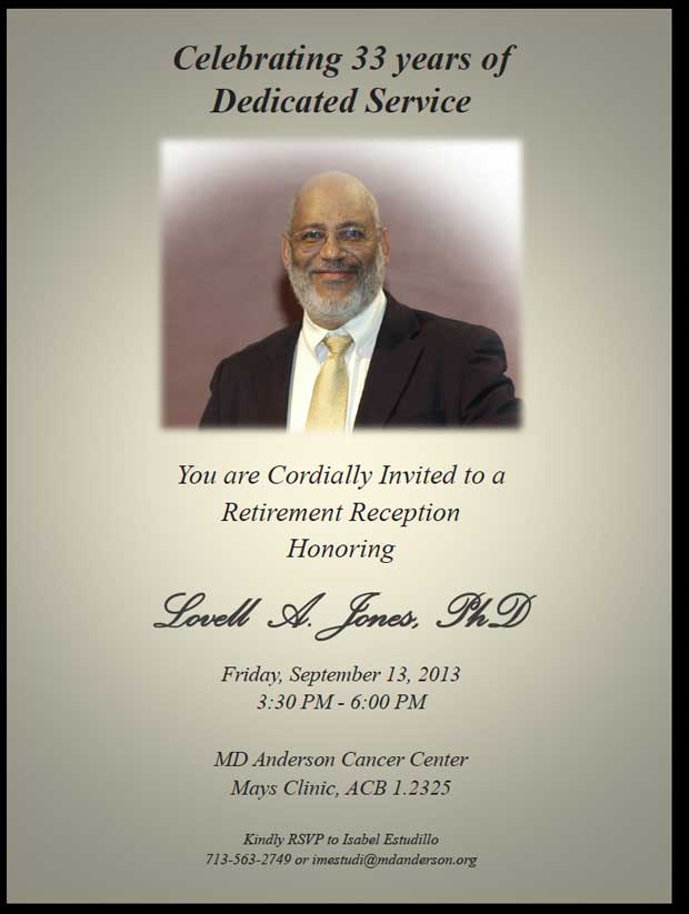 Prairie View Nursing >> You Are Cordially Invited to the Retirement Celebration of Dr. Lovell A. Jones as He is ...