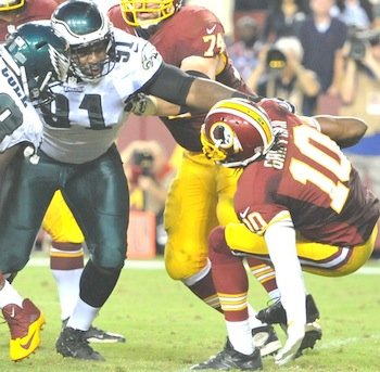 Redskins quarterback Robert Griffin III's triumphant return Monday night was quickly quelled by the Philadelphia Eagles, which stunned the Redskins ...