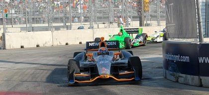 A car racing in the Baltimore Grand Prix 2013