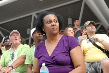 Angela Peele from Charlotte North Carolina was in Baltimore visiting her family, and decided to attend the Grand Prix.