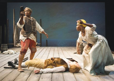"""It's hard to imagine a setting for a play more challenging and complex than the slave trade. It's a history ..."