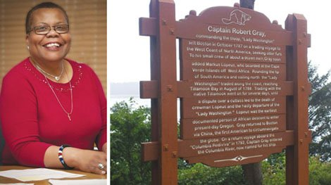 After coming across a historical marker near Tillamook that failed to mention a significant character in Oregon's black history, Oregon Black Pioneer's Vice Chair Gwen Carr launched a successful mission to include that missing part of history on the signage.