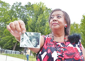 Edith Lee-Payne holds the iconic photograph of herself in the massive crowd on Aug. 28, 1963 during the historic March on Washington.  Approximately, 250,000 people converged upon the Nation's Capitol to demand equal rights.